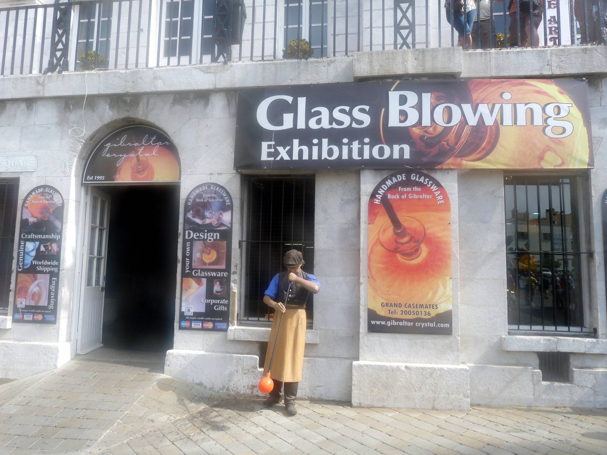Glass Blowing Exhibition на Кейсмейтс Скуеър
