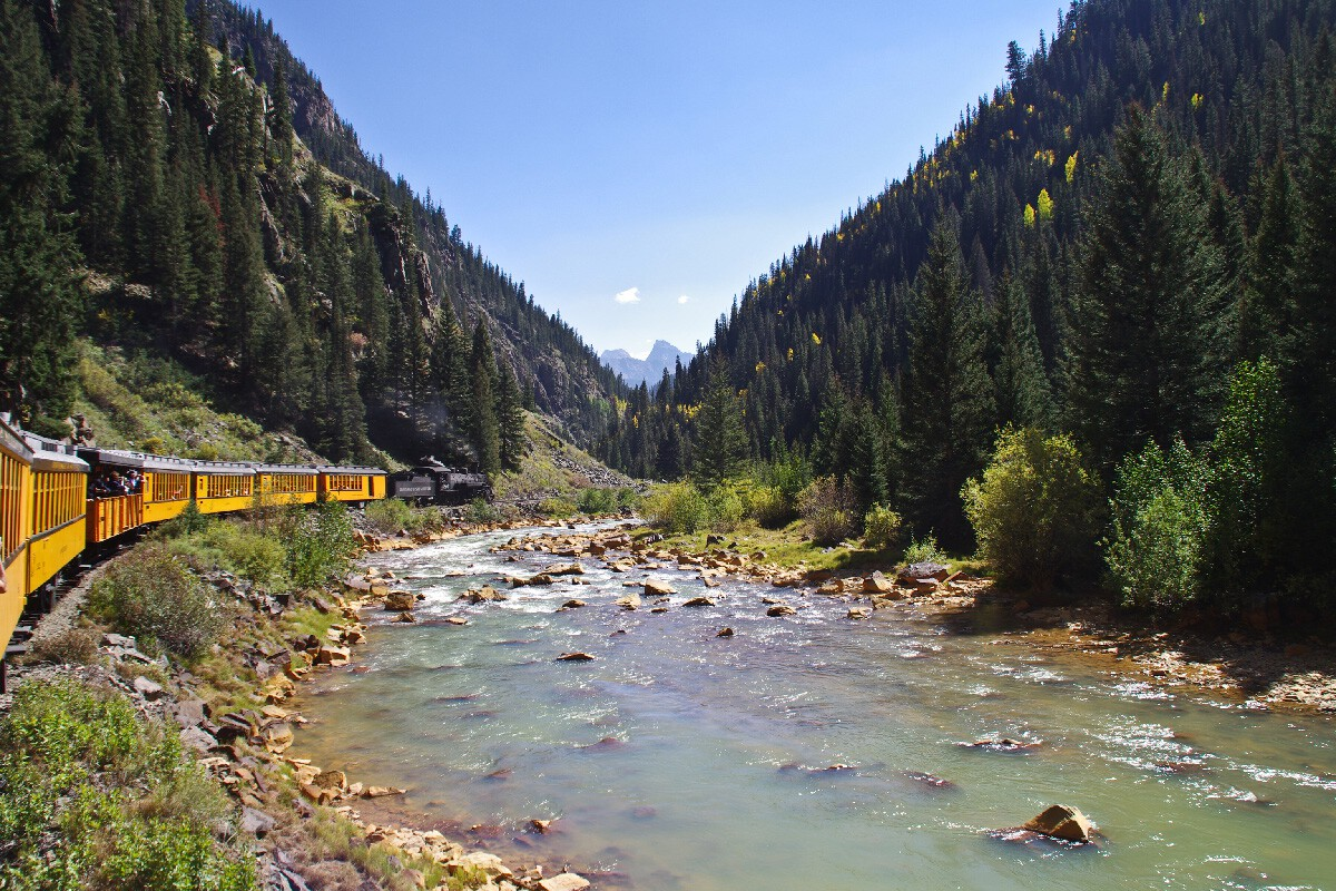 Durango & Silverton Narrow Gauge railroad, Animas River