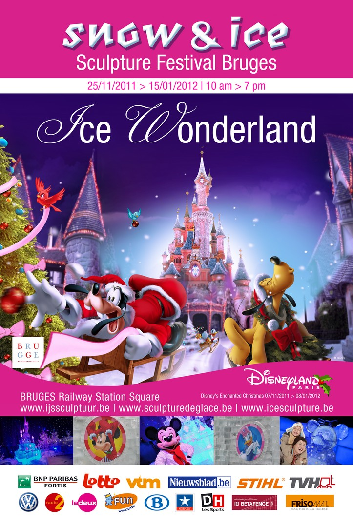 2011 ice wonderland disney – Фестивал на ледените скулптури, Париж, Франция