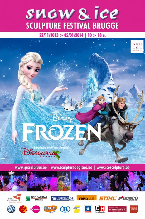 2013 frozen disney – Фестивал на ледените скулптури, Париж, Франция